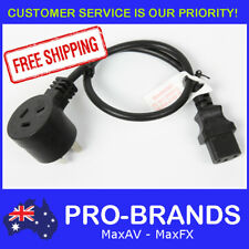 0.5m Piggyback IEC Plug 1.0mm Power Cable Lead Cord Jug Black Piggy Back 500mm