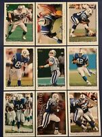 1995 Topps INDIANAPOLIS COLTS Complete Team Set 15 FAULK w Inserts MINT !