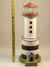 Tin Lighthouse Hand Painted beach house decoration candle holder 16 inches.