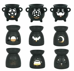 Black Tea light holders & Oil wax Burners ~ Gothic Ornament Halloween decoration