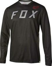 Fox Racing Indicator Long Sleeve Jersey Men's Heather/Black MEDIUM NEW FREE UK P