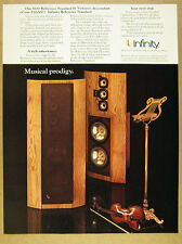 1981 Infinity Reference Standard II Speaker color photo vintage print Ad