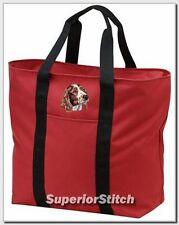 Welsh Springer Spaniel embroidered tote bag Any Color