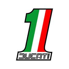 Sticker plastifié NUMBER ONE VINTAGE Ducati Monster Strada - 11cm x 8cm