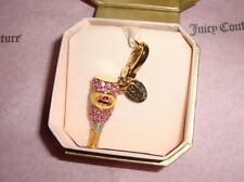 New Juicy Couture Pave Champagne Bottle Charm  For Bracelet, Bag