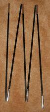 Fiberglass Tent Pole, 9.5 mm (3/8) Diameter, 120.25 inch, 5 Sections, Black