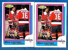 1986-87 O-Pee-Chee Regular & Blank Back MIKE GARTNER (ex-mt) #59 & Error