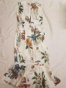 Dolce&Gabbana Floral Print Silk Dress, 40 IT, 4US New