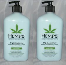 LOT OF 2 SUPRE HEMPZ TRIPLE BODY CREME MOISTURIZER AFTER TAN LOTION GOING FAST!!