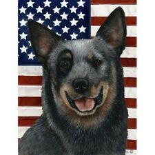 Patriotic (D2) Garden Flag - Blue Australian Cattle Dog 320721