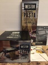 "WESTON TRADITIONAL 6"" STYLE PASTA MAKER MACHINE 01-0201-T W/DRYING RACK & MANUAL"