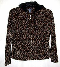 Mountain Lake Casuals Sz Medium Cotton Blend Animal Print Hooded Jacket