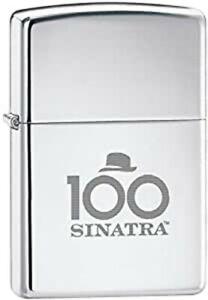 Rare Retired  Frank Sinatra Polished Chrome 100th Birthday Zippo Lighter