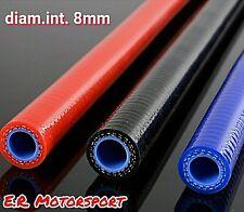 Tubo in silicone alta resistenza per olio acqua benzina Blu diametro int 8 mm