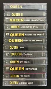 QUEEN - CASSETTE TAPES LOT - LP 12 ALBUMS SOME SEALED PROMO HOLLYWOOD