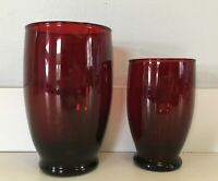 Royal Ruby BALTIC 10 oz. Water Goblet - Set of 6 by Anchor Hocking - Vintage