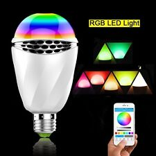 Home Bar 12W E27 Smart LED RGB Lightbulb Bluetooth4.0 APP Control Music Speaker
