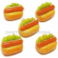 Doll Mini Tiny Fast Food Bread Bakery Sausage 50 Dollhouse Miniature Hot Dogs