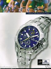 Publicité advertising 2006 La Montre Festina Officiel Tour de France