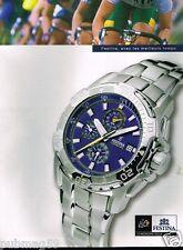 Publicité advertising 2006 La Montre Festina Officiel Tour de France