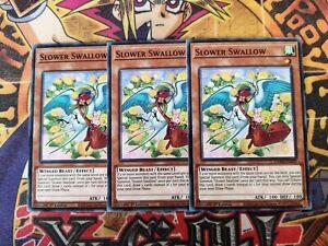 3 x Slower Swallow dama-en029 1st Edition (NEW) Common Yu-Gi-Oh!