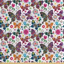 Papillon /& Fleurs 100/% coton imprimé tissu par John Louden