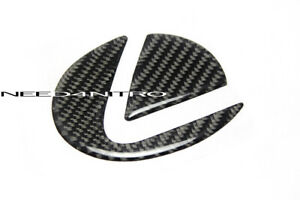 For 06-13 Lexus IS 250 350 Black Carbon Fiber Rear Trunk Emblem Filler Sticker