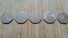 Rare 2012 London Olympics 50p coins x5 dated 2011 in good circulated condition
