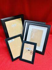 5-IKEA Black Photo Picture Frames 8x10 7x9(2) 5x7 4x6 VIRSERUM GUNNABO(2) RIBBA