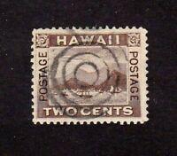 Hawaii stamp #94, used, 2c brown