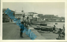 Aden Waterfront People boats Quayside buildings in 1950