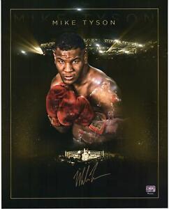 "Mike Tyson Autographed 16"" x 20"" Gold Edition Photograph"