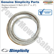 """Genuine Simplicity Replacement V Belt (61.1"""" x .5"""") for Lawn Mowers / 1601672SM"""