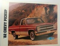 1982 CHEVY PICKUP TRUCKS  Dealer  Sales brochure GMC Oshawa Canada