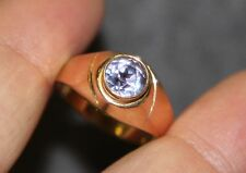 AF5 LQQK Beautiful 14k Rose Gold Ring size 10 Amethyst Round PURPLE Gemstone