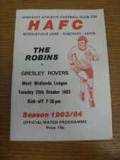 25/10/1983 Hinkley Athletic v Gresley Rovers  (Light Crease). Thanks for viewing