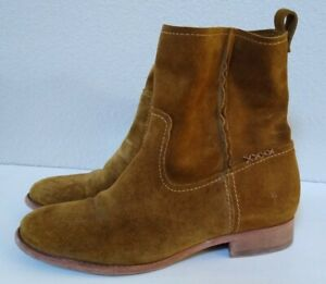Frye CARA Suede Ankle Boot US 8B 3478321 Wheat
