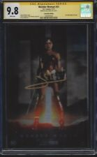 Wonder Woman #31 foil photo cover variant__CGC 9.8 SS__Signed by Gal Gadot