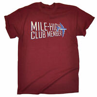 Mile High Club Member T-SHIRT Tee Plane Airplane Jet Cheeky Gift fathers day