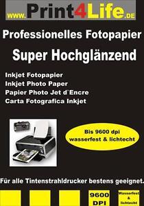 50 Bl Fotopapier Photopapier A4 140g beidseitig super hochglänzend High Glossy