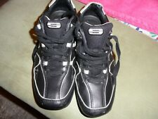 SKETCHERS BLACK LEATHER SPORTS SHOES