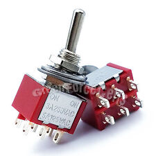 10 pcs High Quality 6 Pin DPDT ON-ON 2 Position Mini Toggle Switches MTS-202 Red