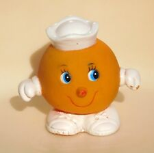 VTG ORANGE Squeaky Toy Fruit Sailor US Navy Stahlwood TAIWAN