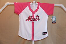 New York NY METS  Majestic JERSEY Womens Medium  sz 10-12  NWT  pink  $65 retail
