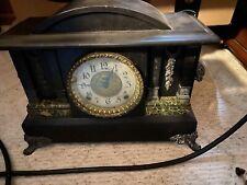 Antique E. Ingraham Mantle Clock - Works (with Pendulum And Key)