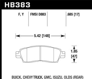 Hawk for Buick / for Chevy Truck / for GMC / for Isuzu / Olds / LTS Street Rear