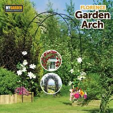 More details for florence garden arch for climbing plants flowers rose arch 2.4m high paths views