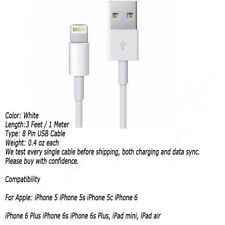2X New Usb Data Sync Charger Cable Cord For Apple iPhone 4G 4 4S Tablet 2 3 Nano