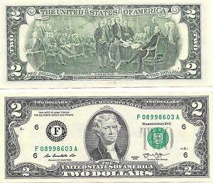 États-unis 2013-F Atlanta Hors-Circulation Du Bicentenaire Billets