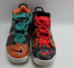 Nike Uptempo Basketball Shoe 7Y What the 90s Jade Orange